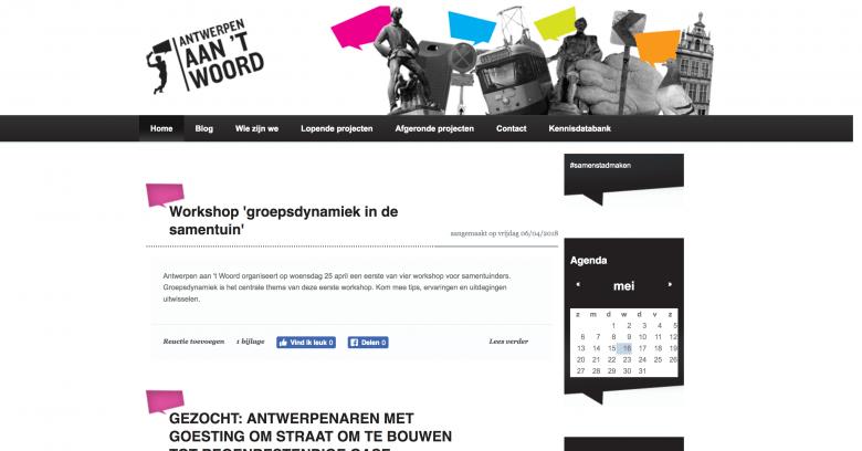 Antwerpen aan 't Woord blogs
