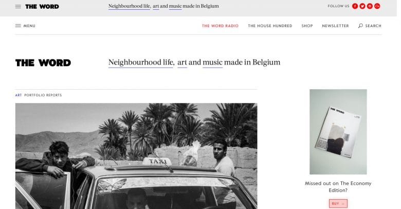 The Word Magazine Antwerp blogs