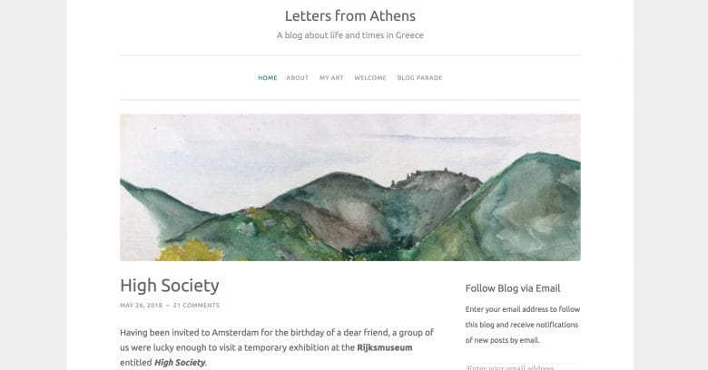 Letters from Athens blog