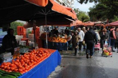 Nea Smyrni Farmers Market Athens