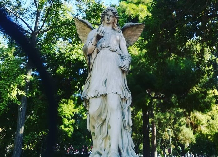 Statues of Ζappeion Garden Athens