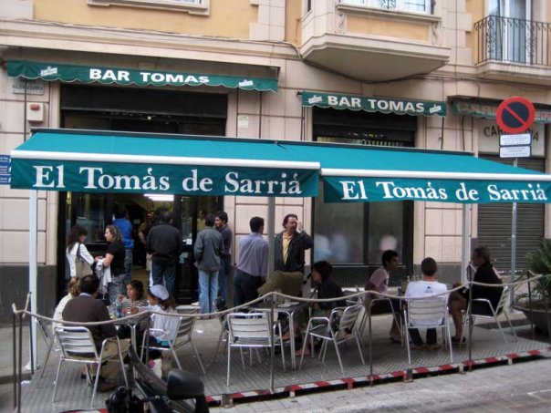Bar El Tomàs de Sarrià Barcelona