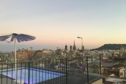 Yurbban Trafalgar Hotel Rooftop Barcelona Spotted By Locals
