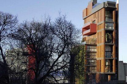 East Village Building – Architectural sculpture