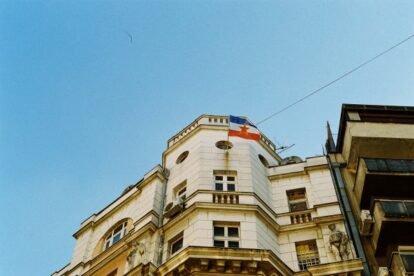 A Flag of Yugoslavia Belgrade