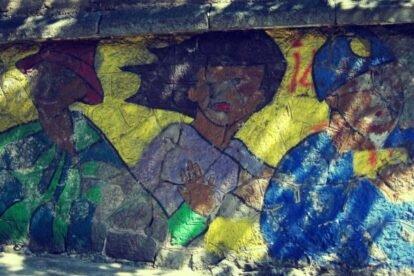 Chilean mural Belgrade