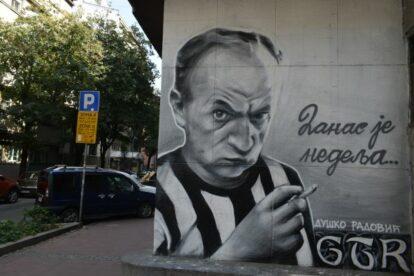 Mural Duško Radović Belgrade