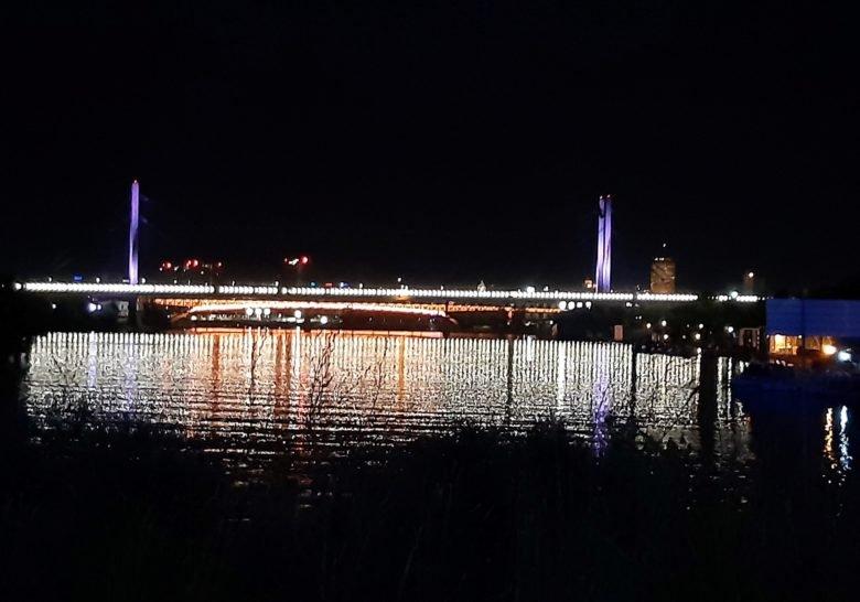 Under the Ada Bridge Belgrade