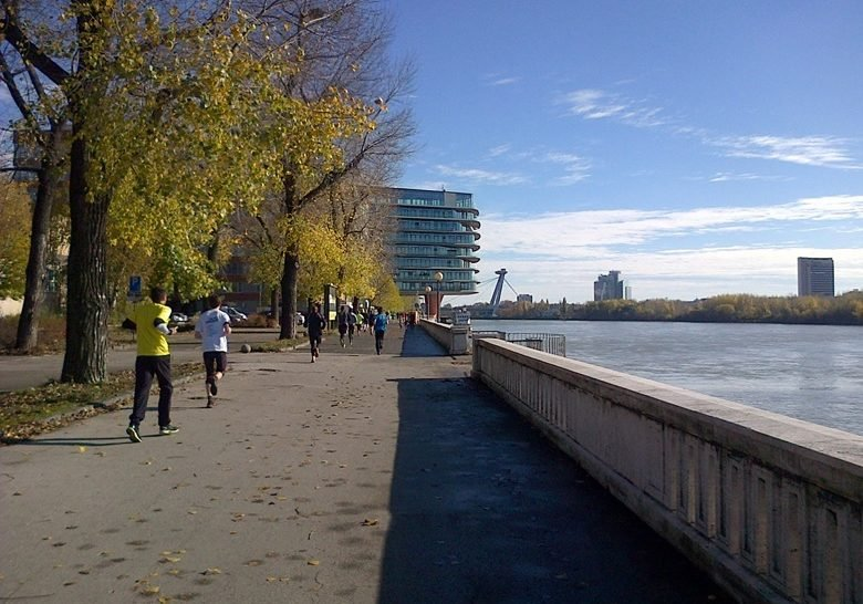 Running along the Danube – This is Bratislava, too!