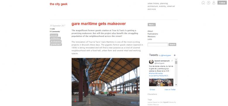 The City Geek Brussels blogs