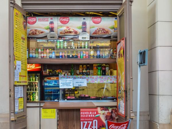 Pizza at the Railway Station Budapest
