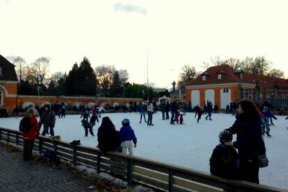 Ice skating in Frederiksberg Copenhagen