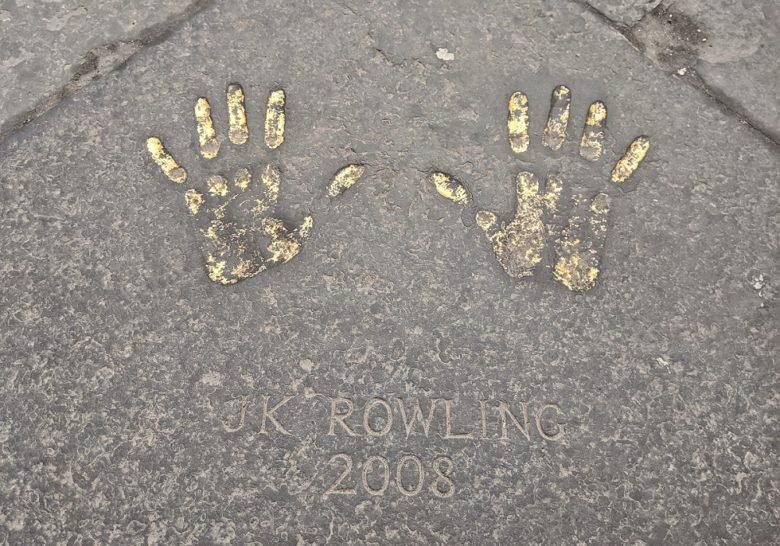 J.K. Rowling's Golden Handprints Edinburgh