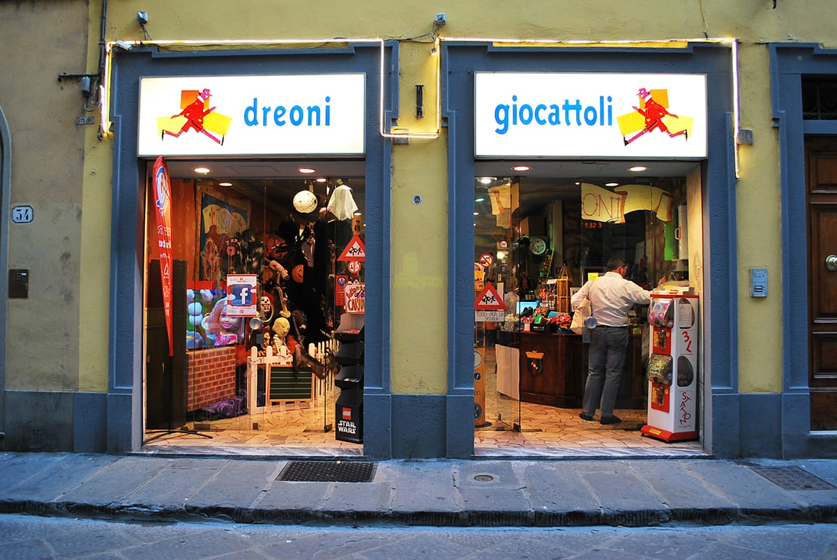 Dreoni giocattoli the dream toy shop of my youth for Dream store firenze