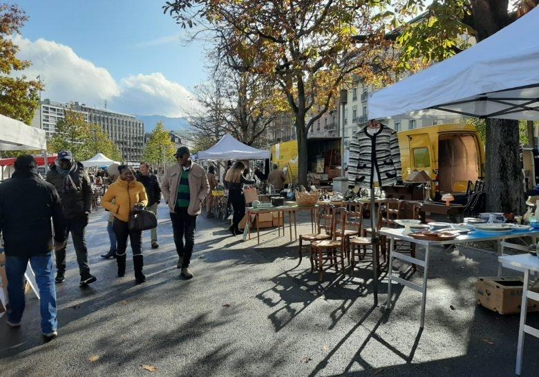 Plainpalais Flea Market Geneva