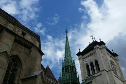Tower of St Pierre Cathedral Geneva