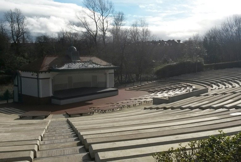 The Kelvingrove Park Bandstand Glasgow