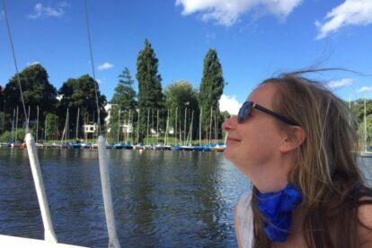On the Alster Lake Hamburg