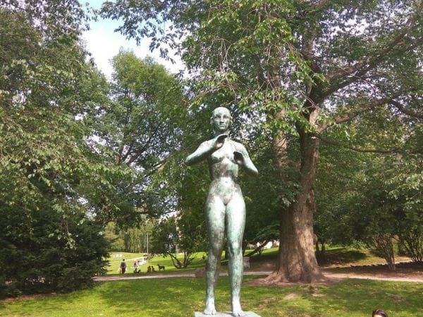 Statue of Tove Jansson Helsinki