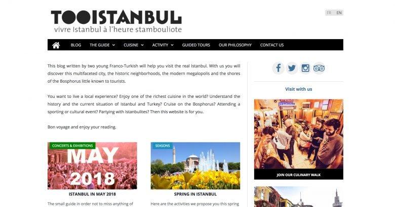 Tooistanbul blog