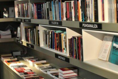 Azil Bookshop Café New Square Ljubljana