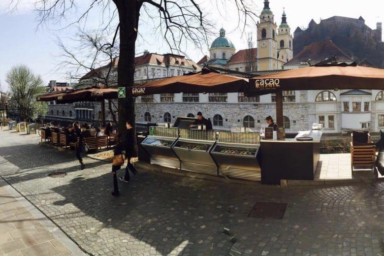 Cacao ice cream Ljubljana