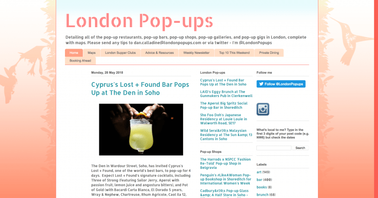 London Pop-Ups Blog