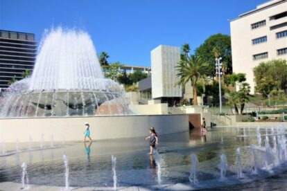 Fountain at Grand Park Los Angeles