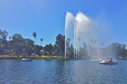 Echo Park Pedal Boats Los Angeles
