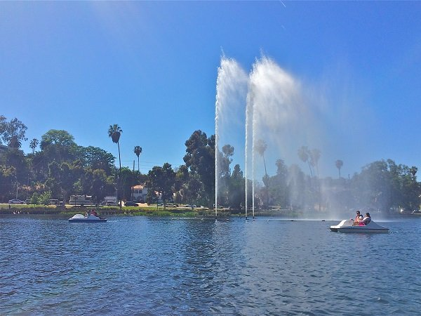 Echo Park Pedal Boats Los Angeles
