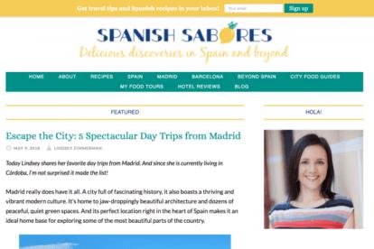 Spanish Sabores blogs