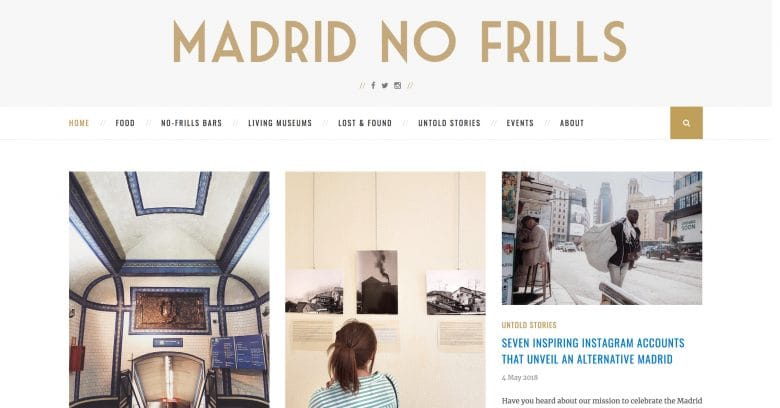 Madrid No Frills blogs