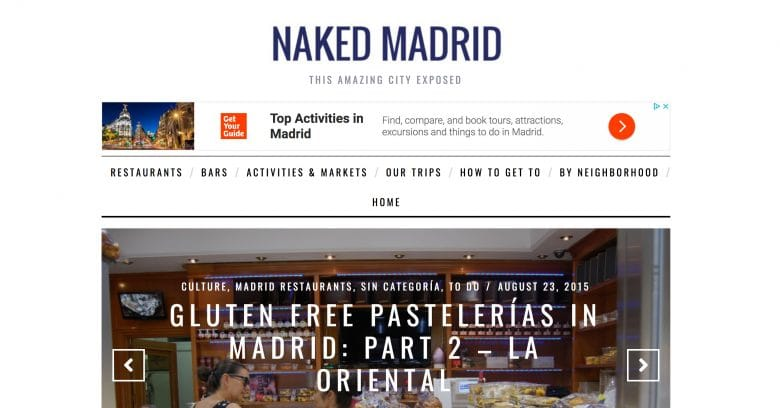 Naked Madrid blogs