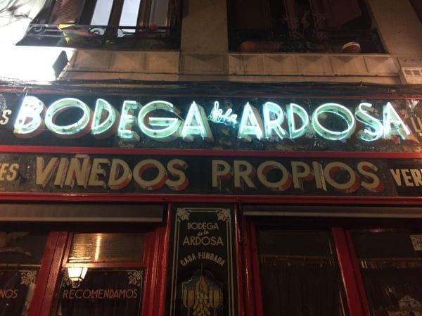 Bodega La Ardosa Madrid