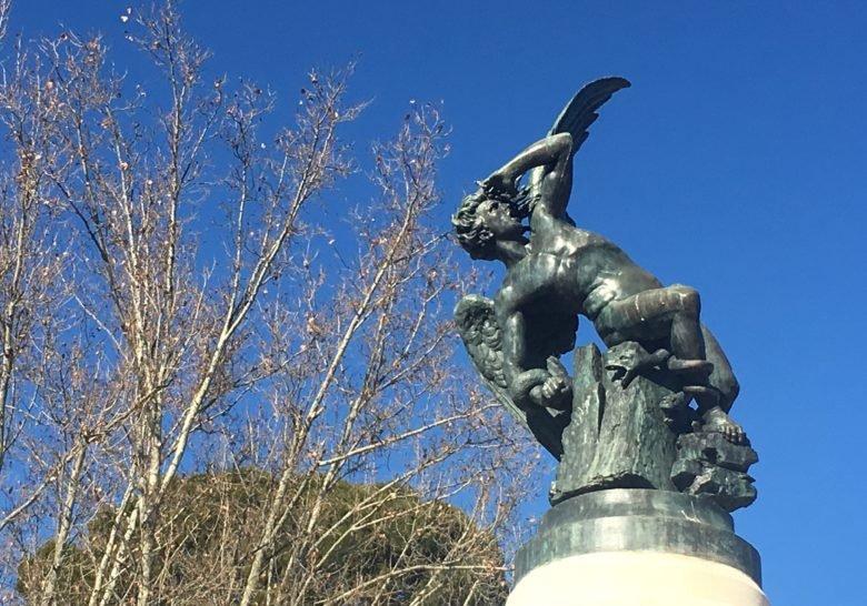 Fallen Angel Fountain Madrid