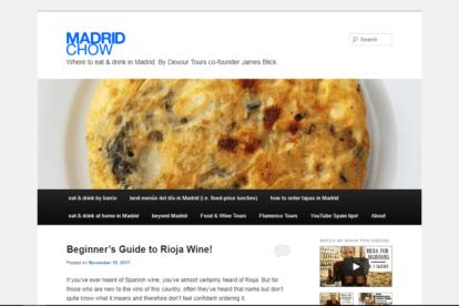 Madrid Chow blogs