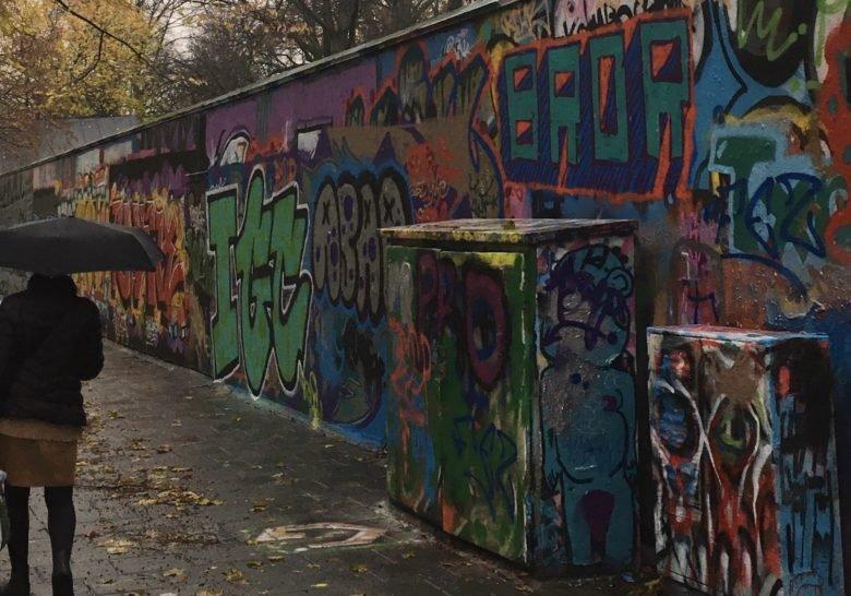 Graffiti in Folkets Park Malmö