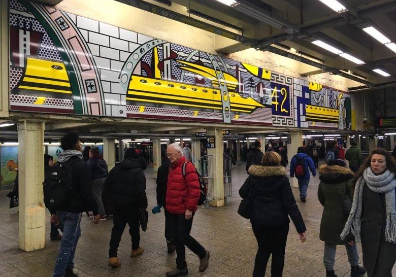 Times Square Mural--Roy Lichtenstein New York