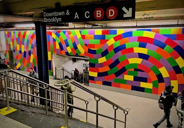 Whirls and Twirls (MTA)---Sol LeWitt New York