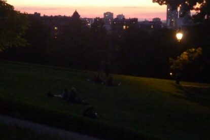 Go to parks at night Paris