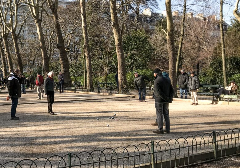 Petanque in the Luxembourg Gardens Paris