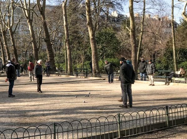 Petanque in the Luxembourg Gardens Paris
