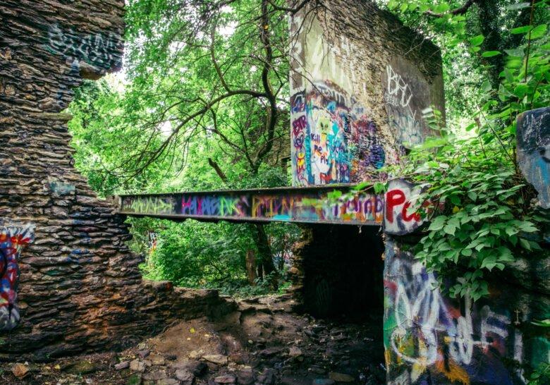 Poquessing Creek Trail Ruins Philadelphia
