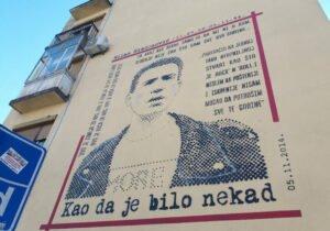 Milan Mladenović Mural – Portrait of a legend