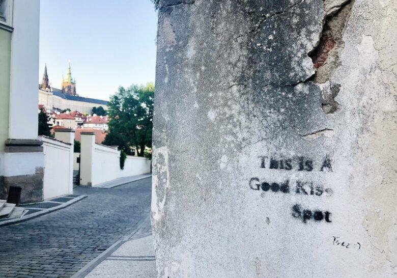Kiss Spot in Malá Strana Prague