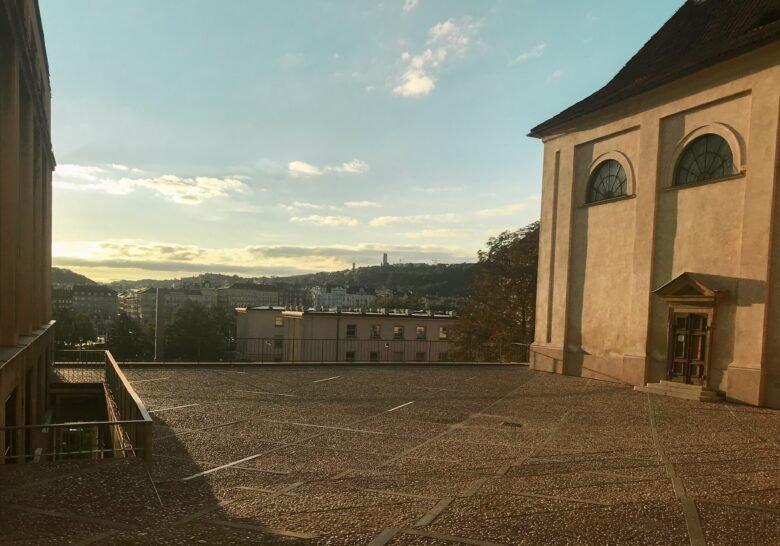 Terrace at Emauzy Prague