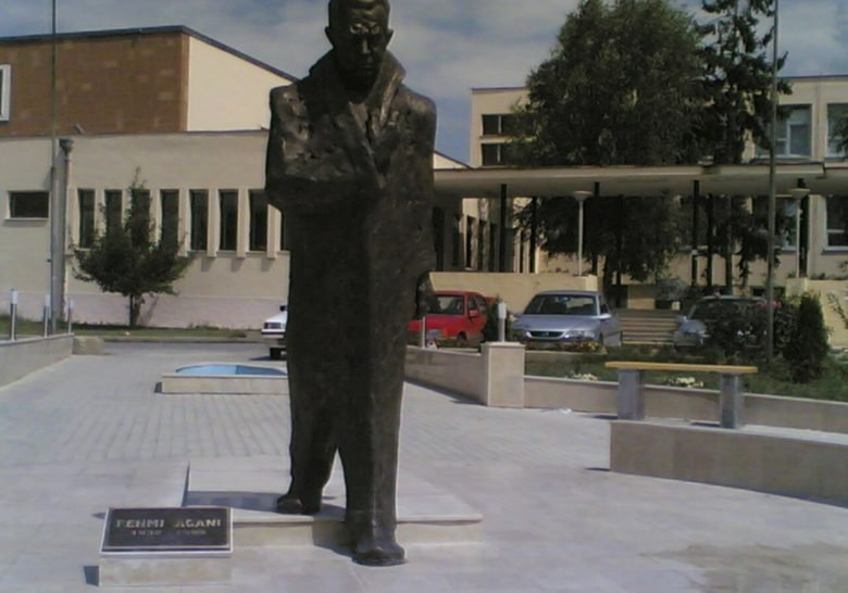 Fehmi Agani statue Prishtina