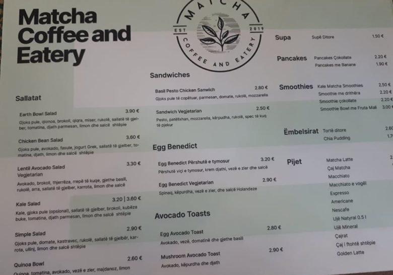 Matcha Coffee & Eatery Prishtina