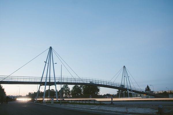 Pedestrian bridge over A10 Riga