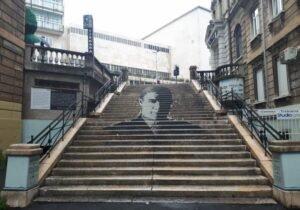Portret Josipa Pičmana – Mural to a tragic death